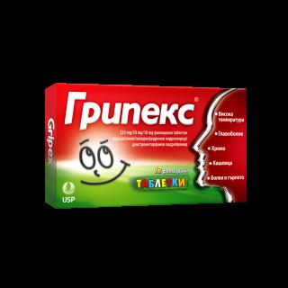 ГРИПЕКС ТАБЛ. Х 12