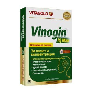 ВИТАГОЛД ВИНОГИН АЙ КЮ МАКС ТАБЛ. Х 30