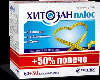 ХИТОЗАН ПЛЮС КАПС Х 60+30 ФОРТЕКС