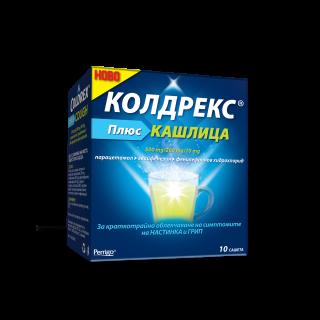 КОЛДРЕКС ПЛЮС КАШЛИЦА САШЕ Х 10