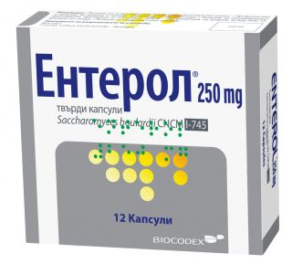 ЕНТЕРОЛ 250МГ КАПС X 12